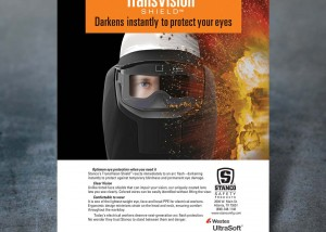 Photo of print ad for Stanco's TransVision Shield