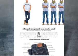 Print Ad for Stanco FR Jeans